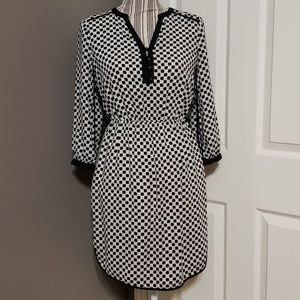 BANANA REPUBLIC DOT PRINT SHIRT STYLE DRESS SIZE 0